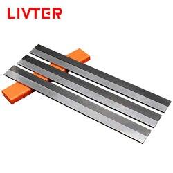 Лезвие строгального станка LIVTER, плоский прямой нож из карбида вольфрама для деревообработки
