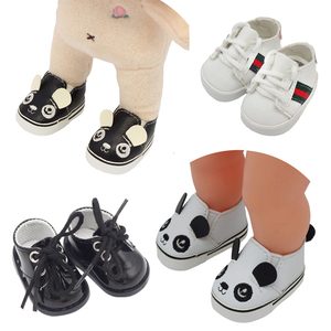 Image 1 - 5.5*2.8cm PU Cute Doll Strap 14 inch Shoes For 1/6 Doll EXO dolls fit 14.5inch girl dolls boots Clothing Accessories toys Boots