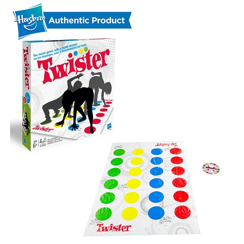Hasbro jogo twister diversão interior twister brinquedo para crianças adulto esportes move grupo interativo brinquedos educativos