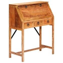 Biurko do pisania vidaXL 90x40x107cm lite drewno akacjowe|Stoły do jadalni|   -