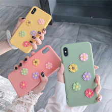 Lovebay 3D Relief Pattern Phone Case For iPhone XS Max XR X 8 7 6 6S Plus Lovely Flower Soft TPU Silicone Pure Back Cover Fundas(China)
