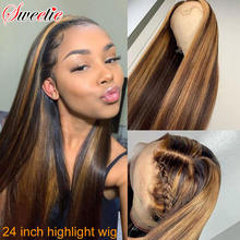 Парик из человеческих волос с перехлёстом 13 х4 дюймов