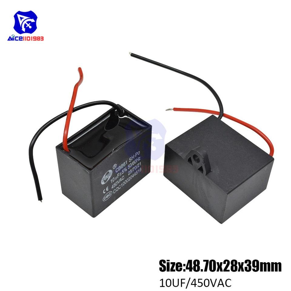 CBB61 450V 1-10uF Ceiling Fan Motor Running PDOarting Capacitor PDO