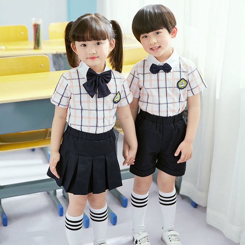 2018 Spring And Summer Business Attire New Products Korean-style British Style Primary School STUDENT'S School Uniform Set Kinde
