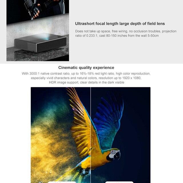 Projetor Xiaomi 1S 4k HD  3D HDR 2GB 16 Projeta 150 Polegadas HDMI 4