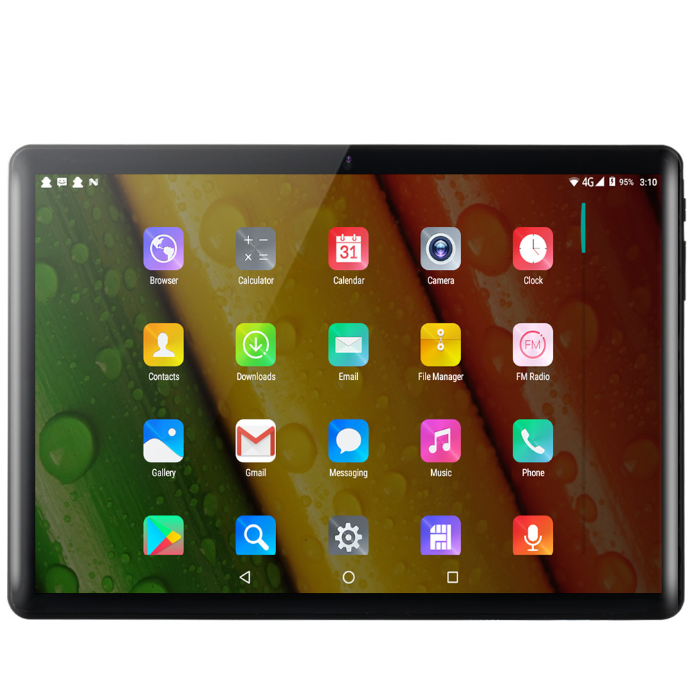 BDF 2020 New Tablet Pc 10.1 Inch Android 7.0 Tablets 1GB+32GB Quad Core 3G Phone Call IPS Pc Tablet WiFi GPS 10 Inch Tablets