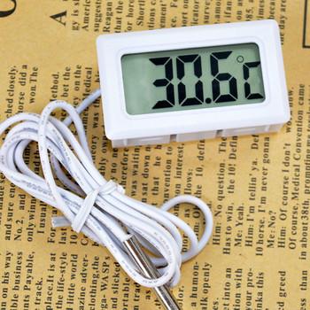 Celsjusza cyfrowy termometr Mini wyświetlacz LCD miernik lodówki zamrażarki Cooler akwarium lodówka czujnik temperatury Instrument tanie i dobre opinie Termometr elektroniczny Thermometer