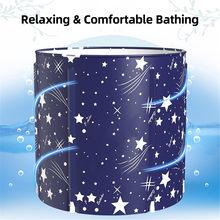Banheira portátil dobrável banheira banheira banheira engrossar barril de chuveiro grande adulto bebê piscina isolamento família banheiro spa banheira