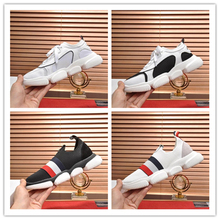 Men sneakers Top quality Leather mesh patchwork Comfortable soft rubber sole casual shoes  size 38-44