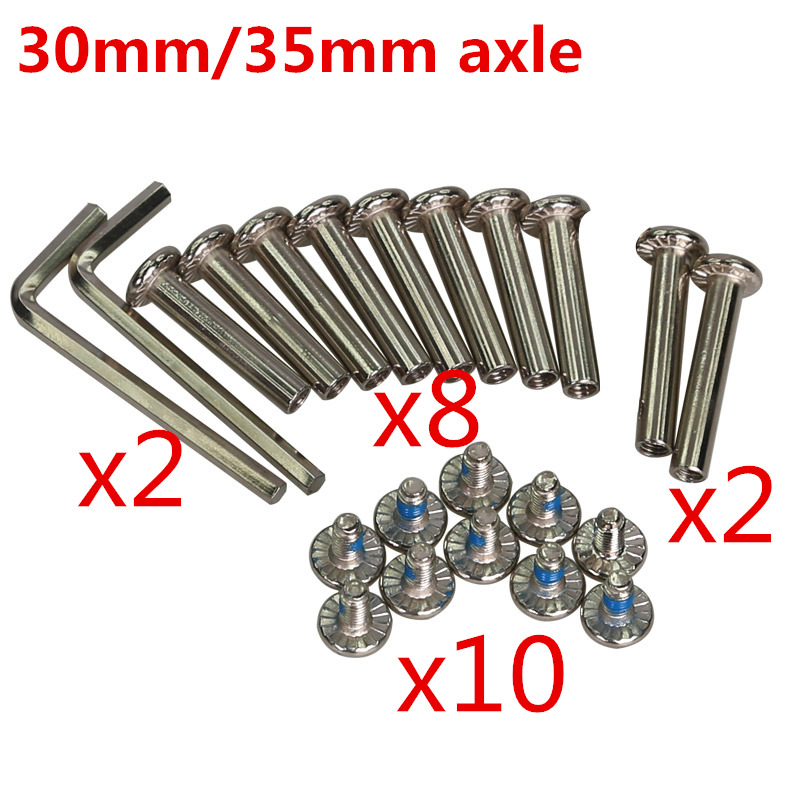 <font><b>6mm</b></font> bolts + spanner + bushing set kids inline skates patines skating <font><b>axle</b></font> 4mm hexagon wrench tool bush sleeve skates accessories image