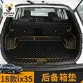 Высококачественные кожаные полно-закрытый 3D коврик для багажника автомобиля модифицированный коврик для hyundai IX35 2018 2019