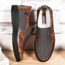 2020 Herfst Mens Casual Schoenen Comfortabel Ademend Slip On Platte Canvas Instappers Schoenen Mannen Zacht Rijden Schoenen Oversized Maat 50