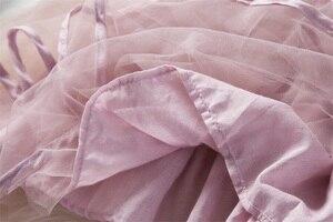Цветок Детские платья для новорожденных новые летние Симпатичная одежда для маленьких девочек, платье из фатина с бантом для XMAS вечерние Од...