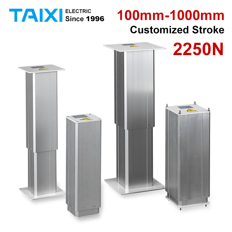 tatami electric lifting column DC 12V Electric linear actuator 100mm stroke 24V electric lift mechanism table chairs 200KG TAIXI
