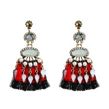 Bohemian Style Handmade Thread Tassel Dangle Earrings for Women Fashion Jewelry Trendy Collection Accessories