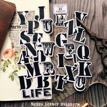 29 unids/pack Vintage alfabeto letras en inglés etiqueta engomada DIY Scrapbooking álbum diario planificador pegatinas