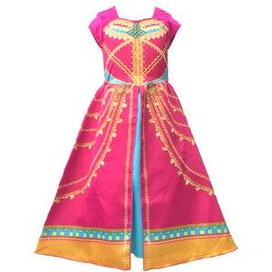 Image 2 - אלדין יסמין שמלת תלבושות ורוד פוקסיה בגד לילדים