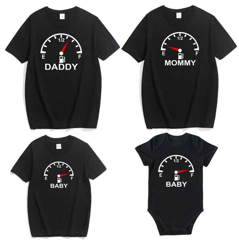 Family Look Matching Clothes 2019 Father Mother Kids T-shirt Baby rompers Casual Mom Daddy and Me Baby Boy Girl Clothes Outfit