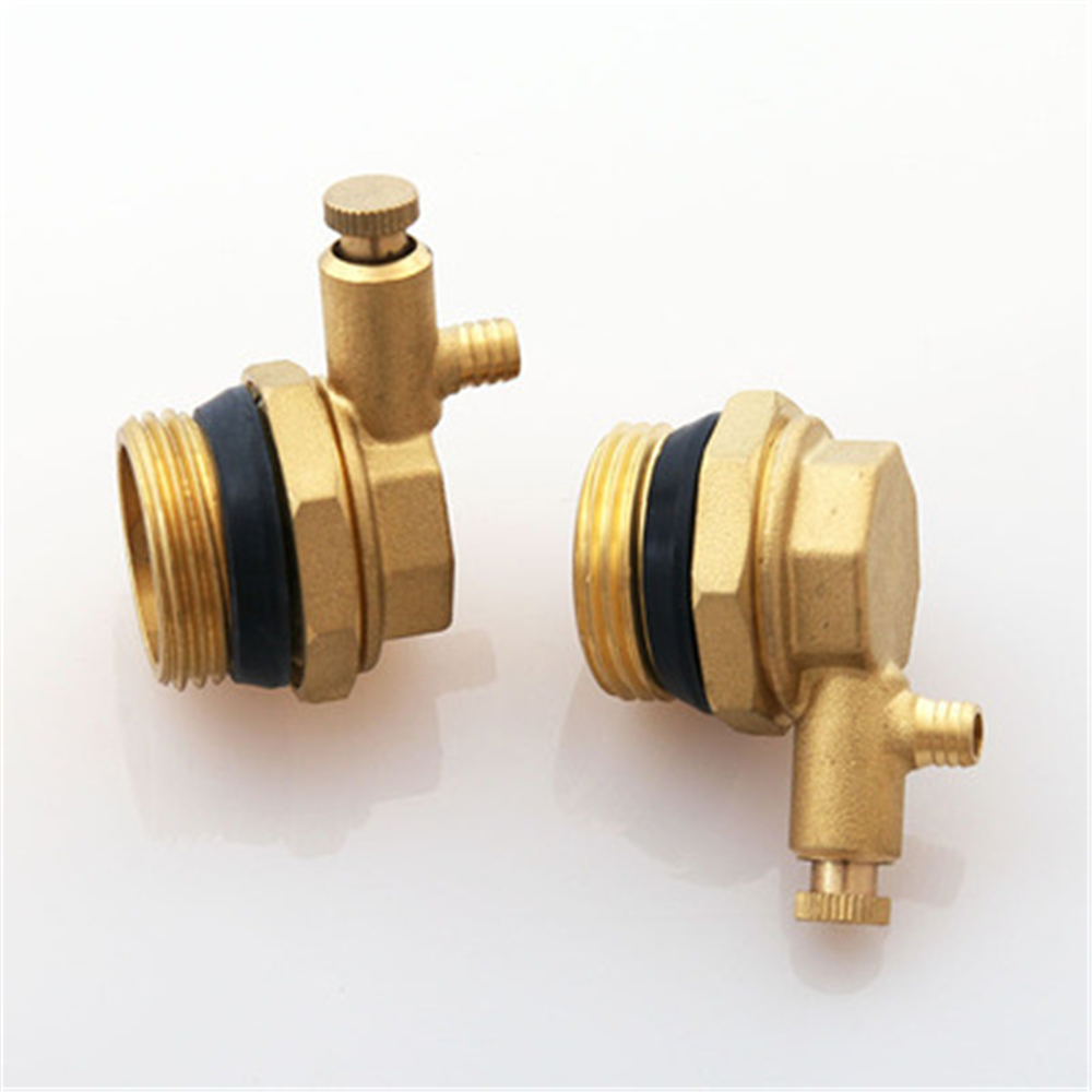 Floor Heating Water Separator Full Copper Solid  Floor Heating Water Separator Household Plug Dn25 Manual Exhaust Plug
