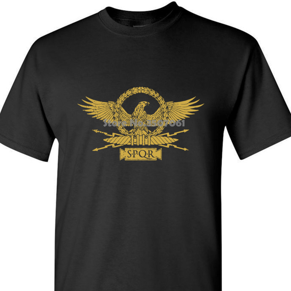 Roman Eagle T-shirt Roma Rom Kaiser Ceasar Emperor Spqr Empire Julius Insignia blacks Cotton Free Shipping coat clothes tops image