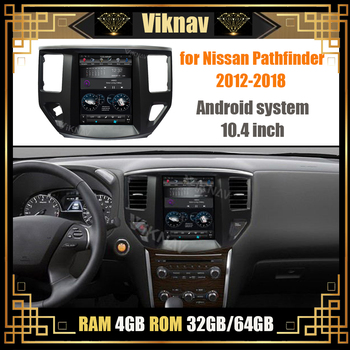 Car Radio for Nissan Pathfinder 2012 2013 2014 2015 2016 2017 2018 Android Stereo Receiver GPS Navigation Multimedia Player image