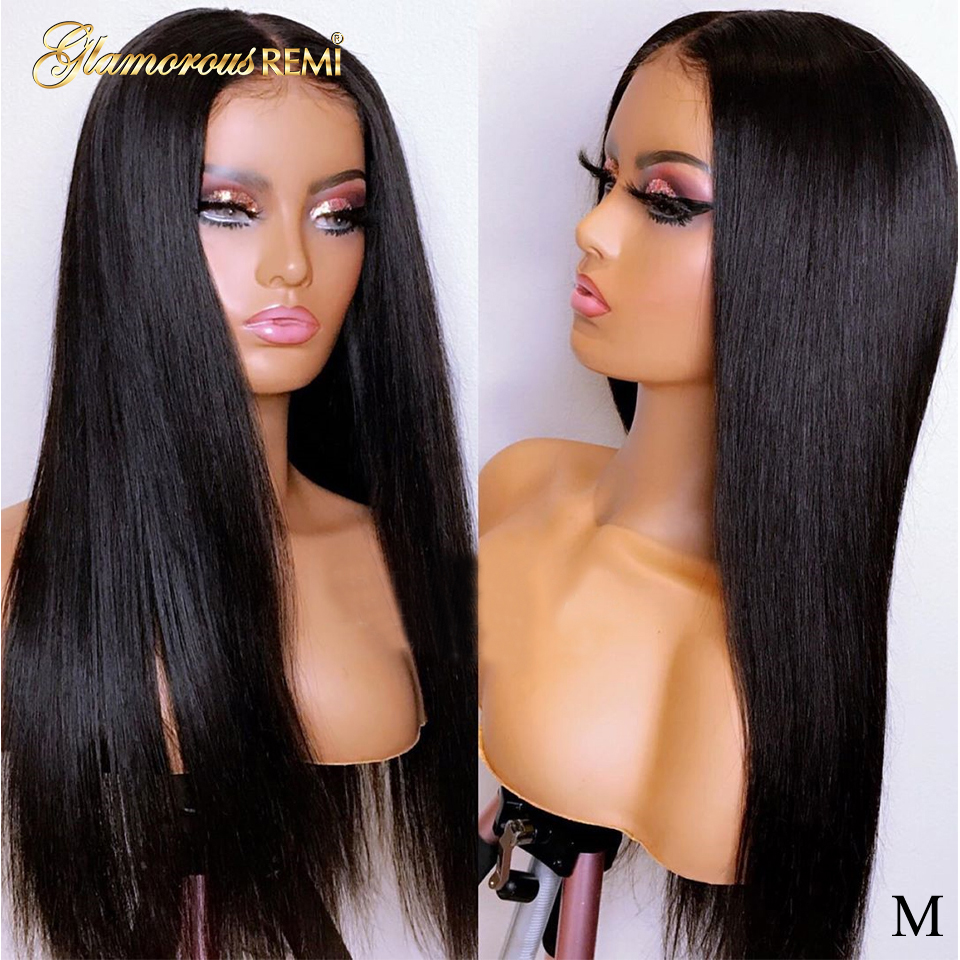 Straight Lace Front Wigs 150% Density Human Remy Hair 13*4  Pre Plucked Hairline with baby hair Glueless Wig  Bleached Knots