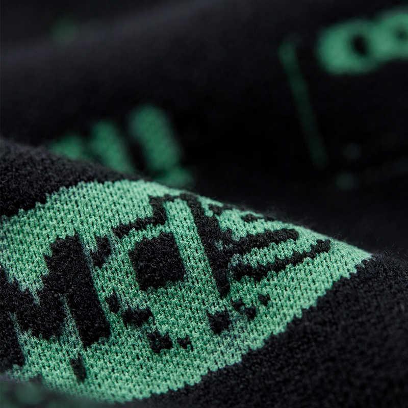 KUEGOU 2019 가을 편지 패치 워크 블랙 스웨터 남성 풀오버 캐주얼 점퍼 남성 브랜드 니트 한국 스타일 의류 1790