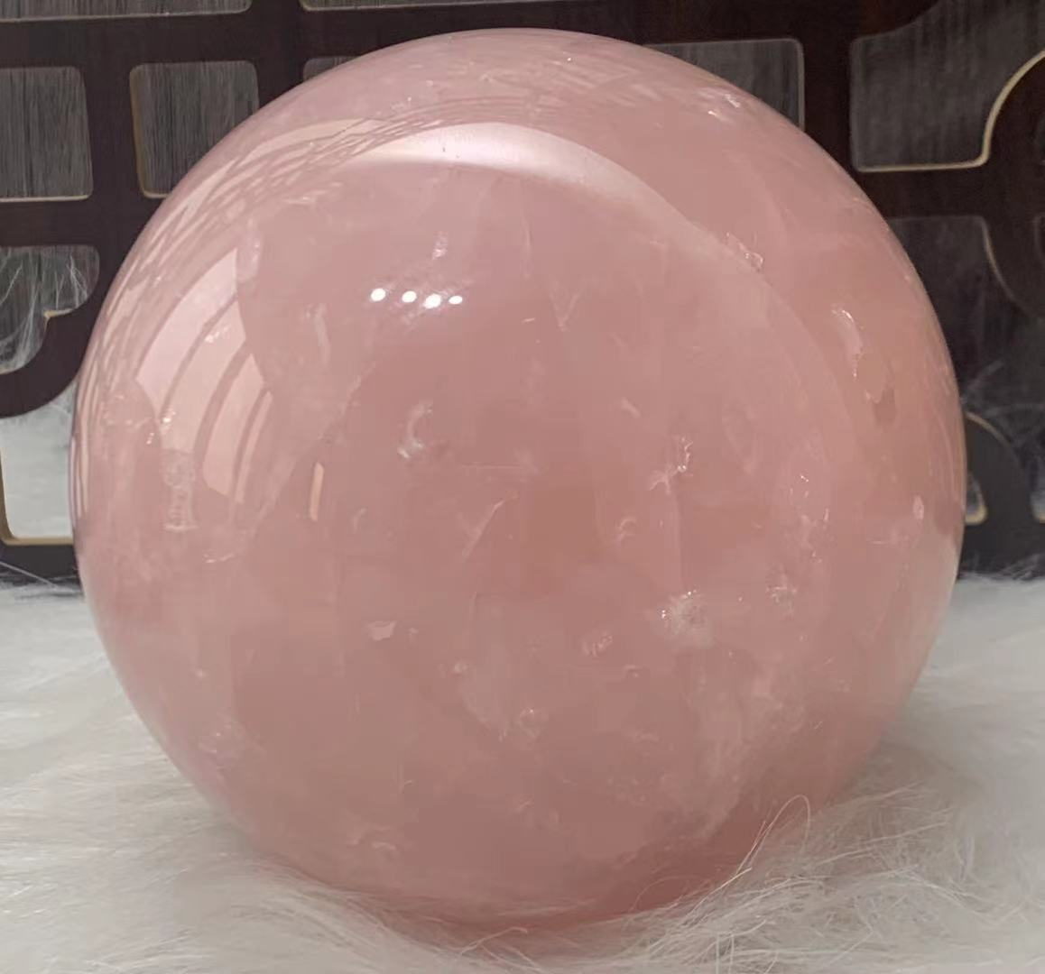 New model 2021natural rose quartz crystal ball, fnatural stone, healing crystal ,home decoration, feng shui, full size 60-150mm