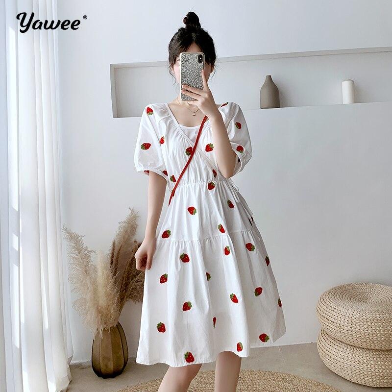 Women Summer Dresses Robe waist slim white 90s Rockabilly Polka Dot Bow Pinup Ball Grown Party Dresses Plus Size Vestidos