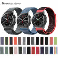 22mm 20mm HOOK LOOP Nylon Watch Strap Band For Amazfit Huawei Samsung Gear S3 Sport Replacement Watch Bands