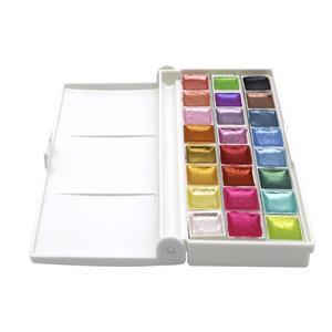 Image 3 - سيميارت 24 لون لامع مجموعة ألوان مائية أكواريلاس ذهبي معدني أكواريلا صبغ رسومات فنية ألوان مائية لوازم فنية