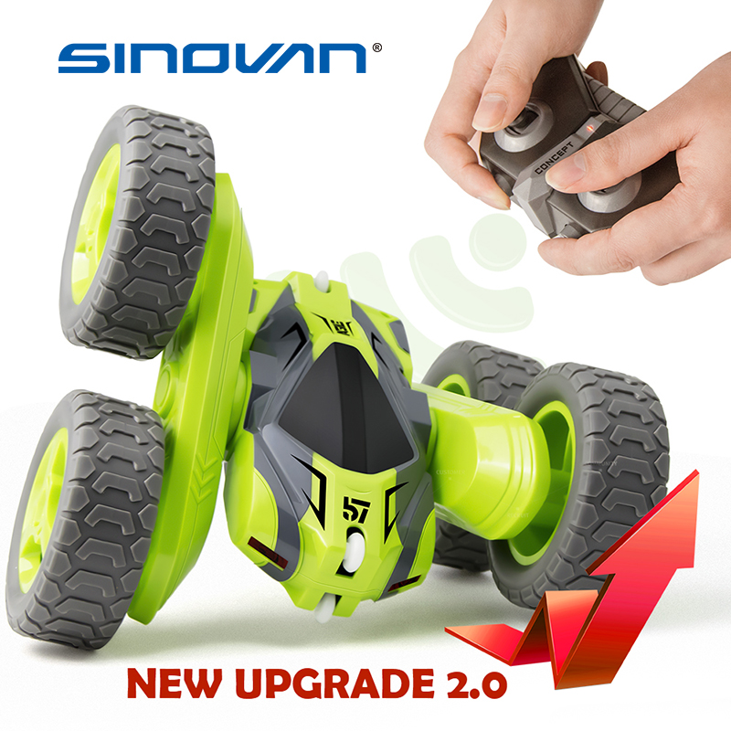 RC Stunt Car 2.4G 4CH Drift Deformation Buggy Roll Car 360 Degree Rotating Double Sided Flip Vehicle Models Remote Control Toys