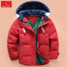 kids winter autumn jacket boys girls hooded Plush coat warm toddler  outerwear solid color children overcoat