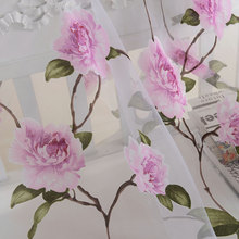 New Floral Tulle Window Curtains For Living Room Kitchen Screening Sheer Voile Drapes Valances Panel Home Decor