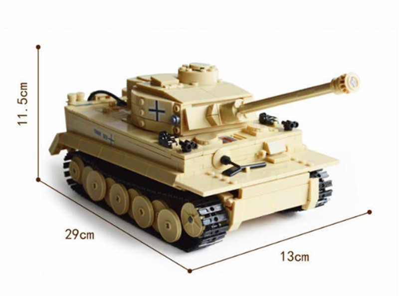 995 قطعة الجيش الألماني الملك النمر خزان مدفع لعبة اللبنات مجموعات جنود الجيش DIY بها بنفسك الطوب ألعاب تعليمية للأطفال