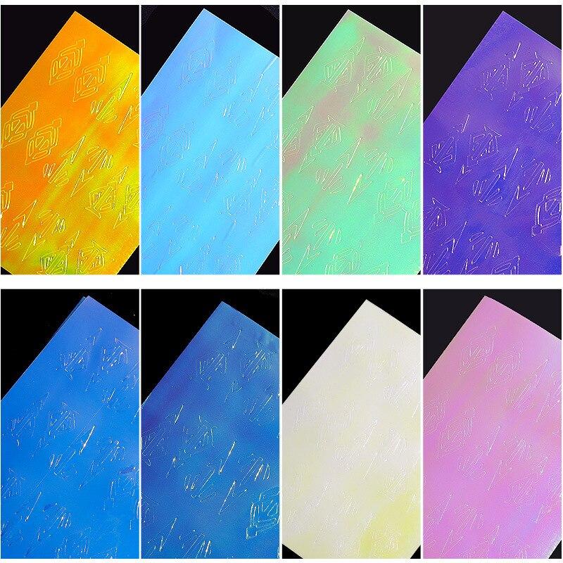 13Pcs-Set-Flame-Laser-Foil-Diamond-Shaped-Arrow-Pattern-With-Back-Glue-Sticker-3D-Holographic-DIY(1)