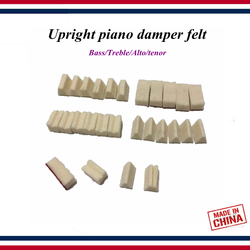 Piano Tuning Accessories 30PCS Upright Piano Damper Felt Bass/Treble/Alto/tenor Triangle Wool/Flowering It/Slot Wool Piano Parts