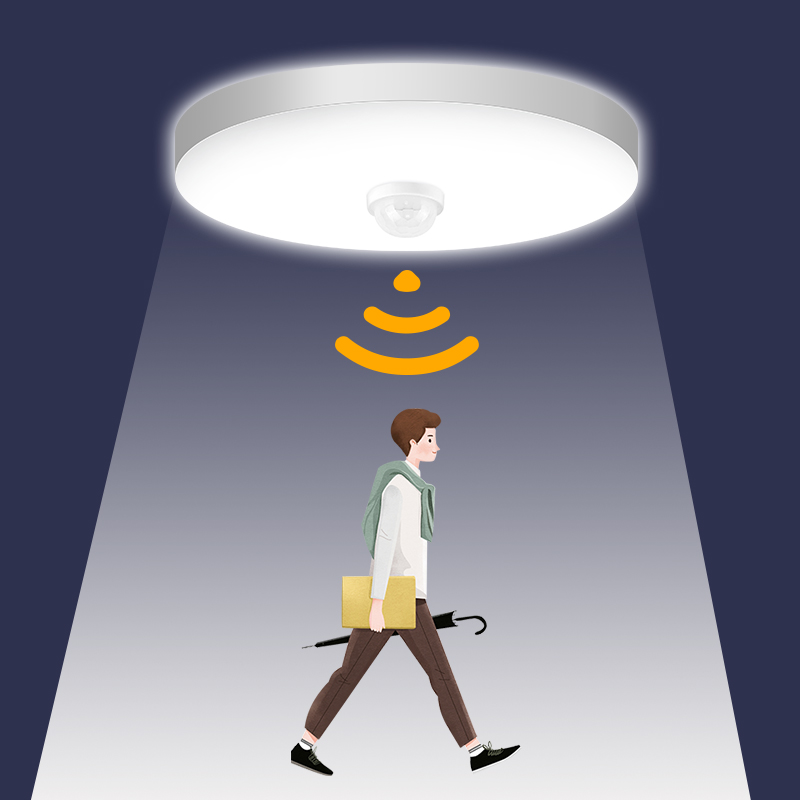 Motion Sensor Led Night Lights for Children Baby 12W 18W 15W 20W 30W 40W Night Lamp Kids Room Bedroom Led Lampada with Sensor