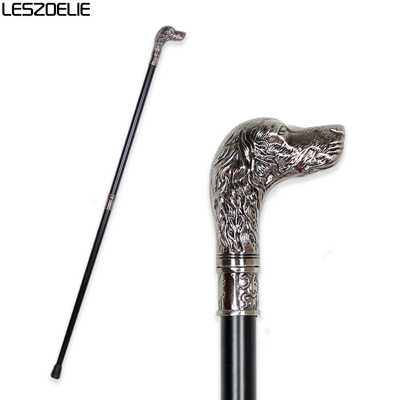 Dog-Head Luxury Walking  Stick Canes For Men Fashion Elegant Walking Canes Decorative Stick Party Vintage Hand Walking  Cane