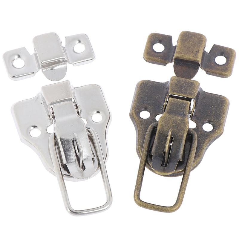 Suitcase Box Case Metal Toggle Latch Hasp 62mmx34mmx11mm w 2 Keys