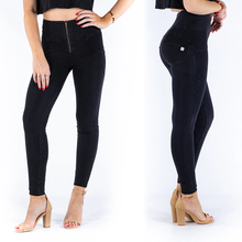 Melody Black Push Up Jeggings High Waist Zipper Fly Super Comfortable Leggings For Women High Elastic Skinny Sexy Denim Jeggings