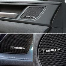 Insignia de aluminio 3D decorativa para coche Fiat Abarth Punto 500 Stilo Ducato Palio Bravo, accesorios Doblo, 4 Uds.