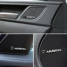 4 adet araba ses süslemeleri 3D alüminyum rozet amblem Sticker Fiat Abarth Punto 500 Stilo Ducato Palio Bravo Doblo aksesuarları