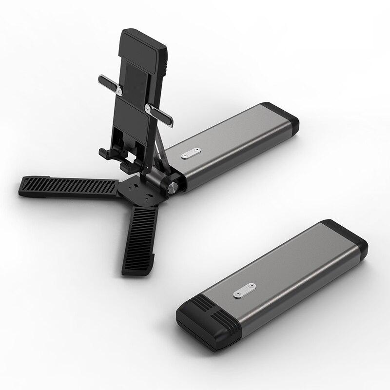 Foldable Desk Mobile Phone Holder Stand For Cellphone Adjustable Metal Desktop Tablet Holder Universal Table Cell Phone Stand