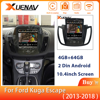 2Din Car Auto Multimedia Player For-Ford kuga escape 2013-2018 Car GPS Navigation stereo autoradio tesla vertical player image