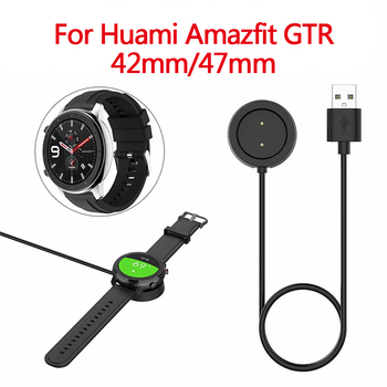 USB Magnetic Charging Dock Cable for Xiaomi Huami Amazfit GTR 42/47mm 1909 1901 Watch Cord Charger Power Smart Watch Accessories image