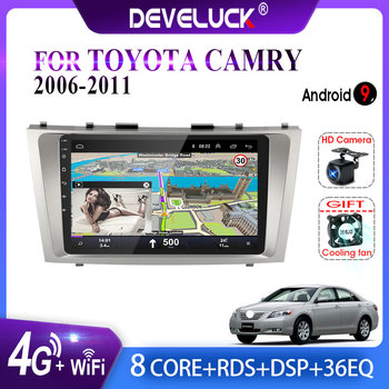 Android 9.0 2 din 8 Octa-Core Car Radio Multimedia Video Player Navigation GPS For Toyota Camry 6 XV 40 50 2006 - 2011 no dvd AM 9 66 android 8 1 universal car usb video audio multimedia gps radio fm am dvd player voice navigation for volkswagen series