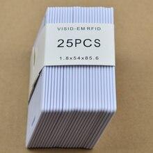 25 pçs/lote tag rfid 125KHz ID LOS TK4100/EM4100 Cartão Grosso cartão do Sistema de Controle de Acesso de Cartão RFID
