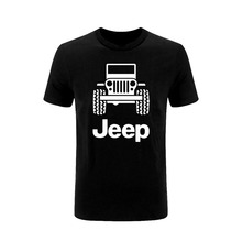 Mens T Shirts Jeep Black T-shirt Tee shirt 2019 New Car Off Road 4x4 Clothing Fashion Gift From US wholesale