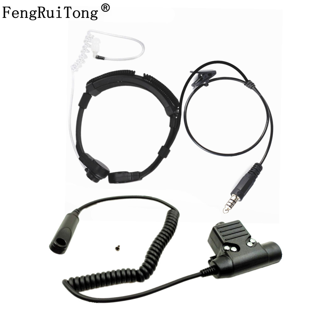 Walkie Talkie Microphone Heavy Duty U94 PTT Neck Throat Mic Earpiece Radio Tactical Headset For Baofeng  UV-9R BF-9700 BF-A58